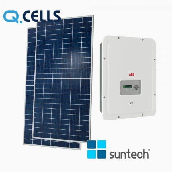 Combo điện mặt trời Inverter ABB UNO-5.0 và Pin Hanwha 18 tấm