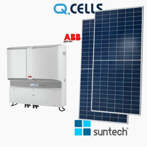 Combo hệ thống điện mặt trời hoà lươi qcells + abb 10800w