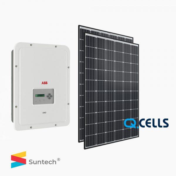 Combo điện mặt trời Inverter ABB UNO-5.0 và Pin Hanwha 18 tấm, điện mặt trời cho hộ gia đình