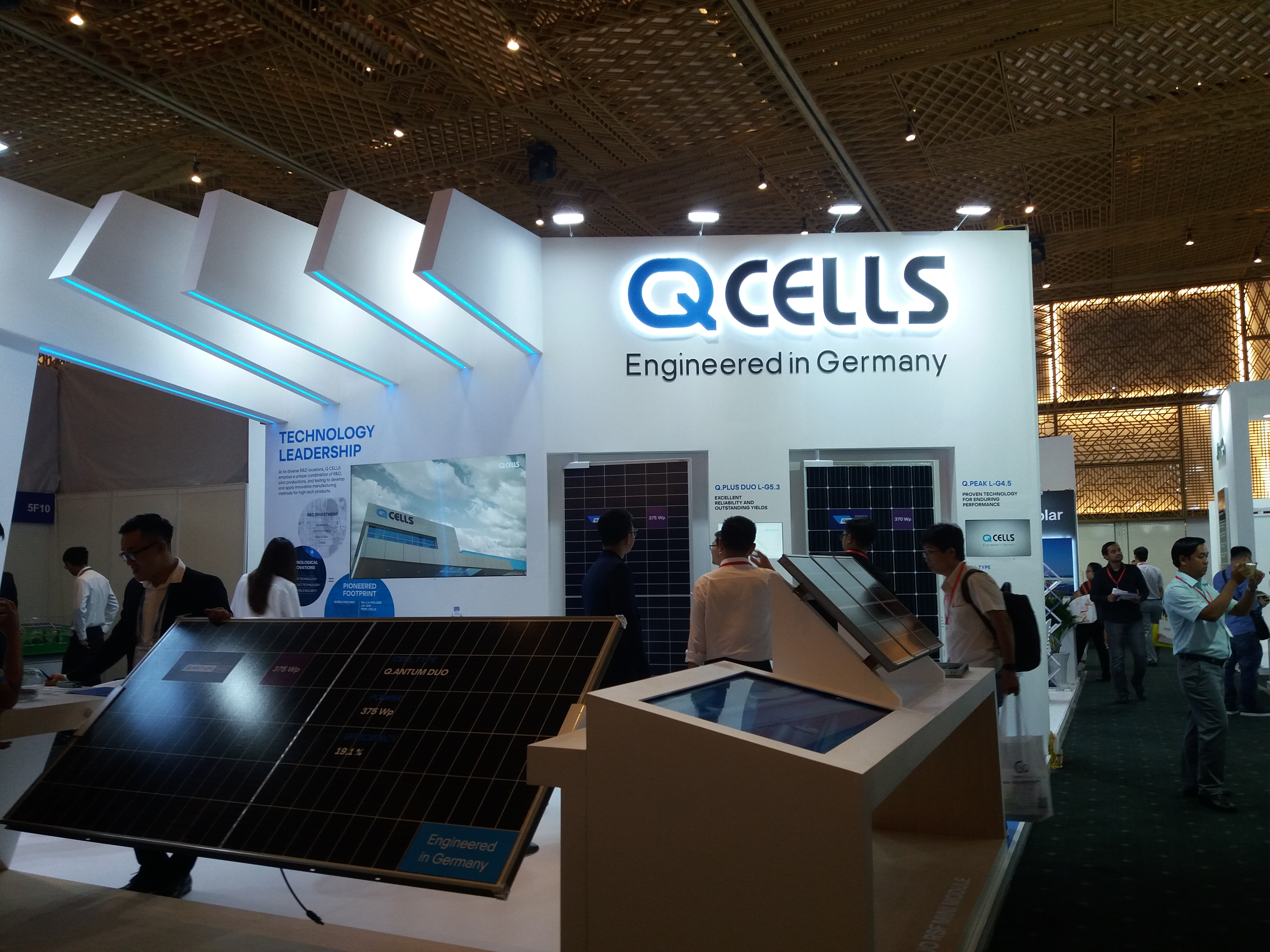 Pin năng lượng mặt trời Qcells với công nghệ Đức